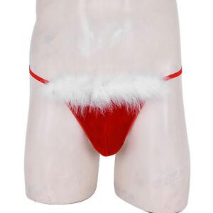 bc049e424 Details about Christmas Men s Sexy Velvet Briefs Underwear Xmas Santa  G-string Thongs Lingerie