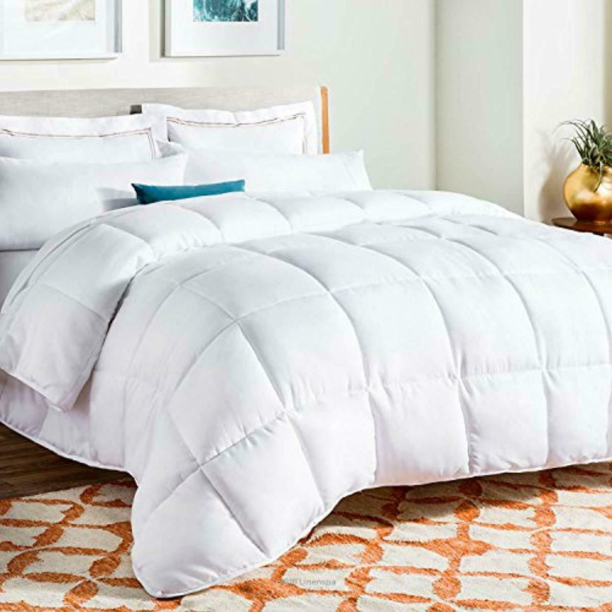 Linenspa All-Season Down Alternative Quilted Comforter - Hypoallergenic - Plush