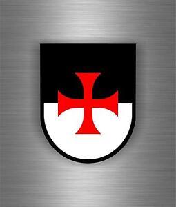 bandiera-Sticker-adesivo-tuning-auto-softair-templare-templari-crociata-stemma