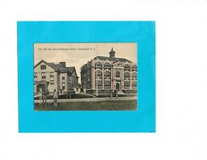 Vintage-Postcard-The-Old-and-New-Fairmount-School-Hackensack-New-Jersey