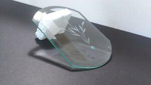 Beveled-Chandelier-Glass-Panel-Light-Wheat-Leaf-Pattern-Pane-Vintage-Clear-Retro