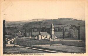 CHALON-sur-SAONE-quai-de-MAZILLE-Eglise-et-coteau-de-Chaumont