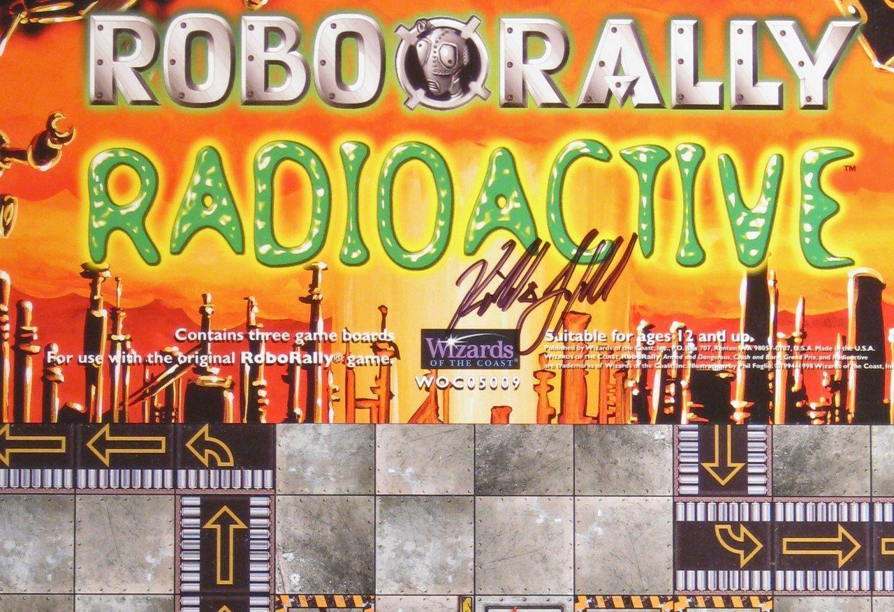 Roborally Radioaktiv signerad av Gustav Trollkarlar från kusten, WOW Megagras