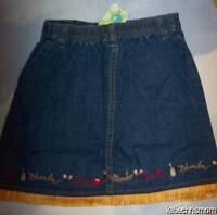 Girls 7 Gymboree Copa Cabana Denim Fringe Skirt Vintage (top Not Included)