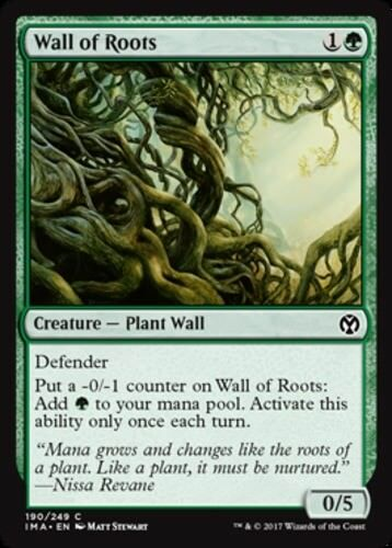 x1 Wall of Roots English Foil MTG Iconic Masters C M//NM