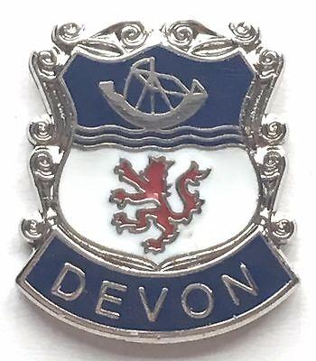 Devon Pin Badge 20mm Gift BRAND NEW Saint Petroc Flag Enamel /& Metal Lapel