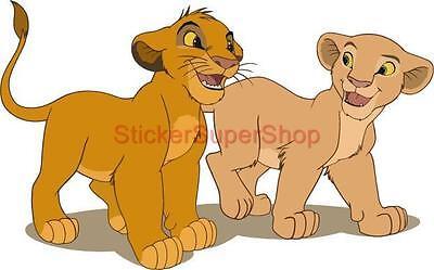 LION KING DISNEY Decal Removable WALL STICKER Home Decor Art Simba Nala Kids