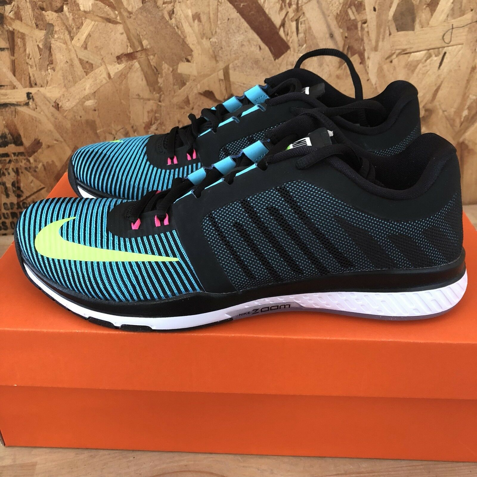 Nike Zoom Speed TR3 - Black   Electric Green   Gamma bluee Size 8 New