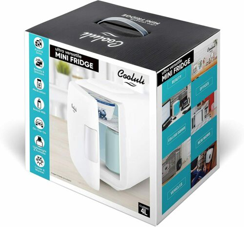 4 Liter // 6 Can AC//DC Portable Cooluli Mini Fridge Electric Cooler and Warmer