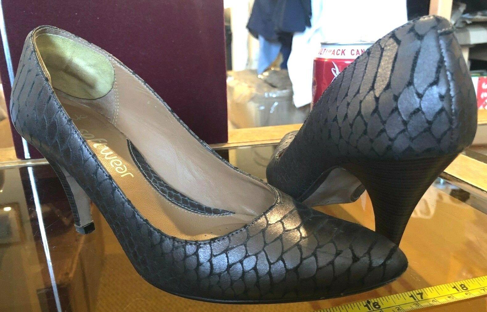 Clarks Dark Metal Metallic Ladies Heels shoes UK 3.5 Cusion Softwear