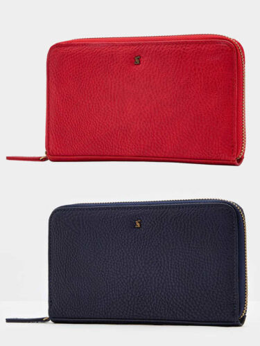 French Navy Joules Fairford Bright Faux Leather Purse Red