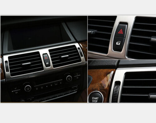 2008-2014 For BMW X6 E71 Dashboard Central Console Air Outlet Cover Trim Steel