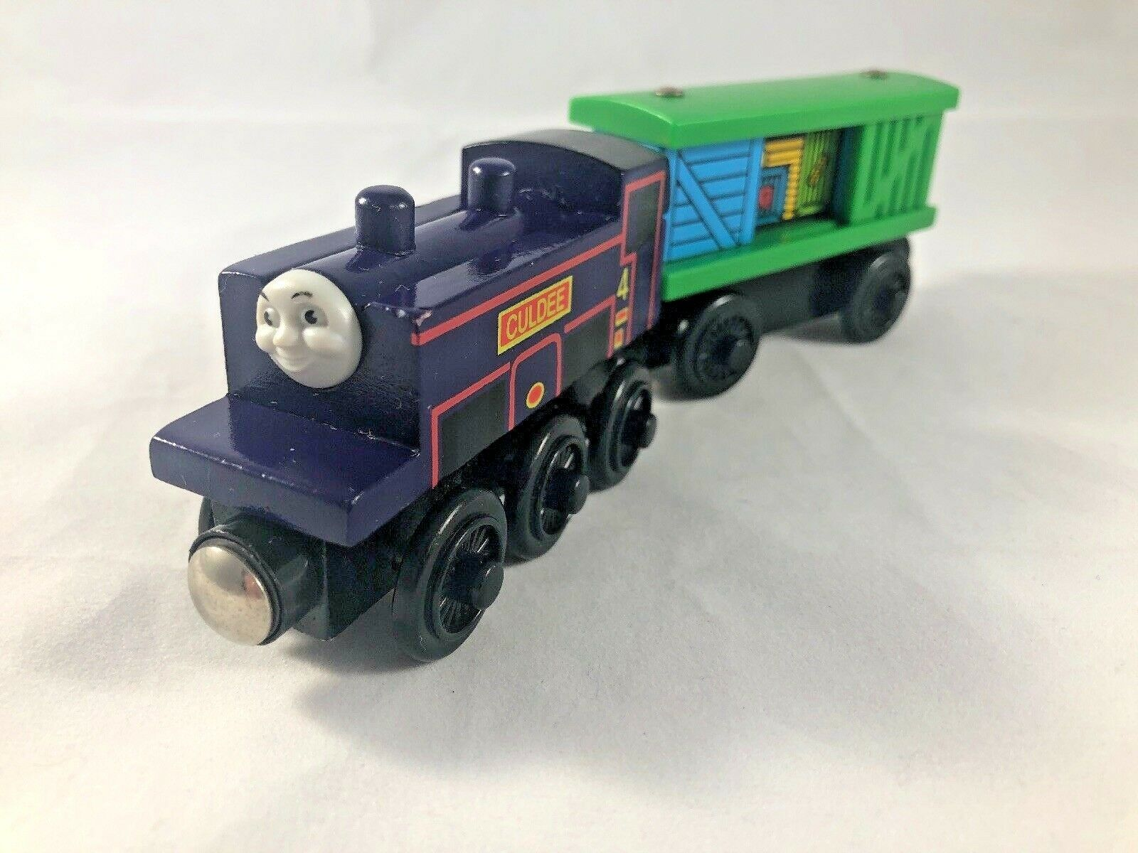 CULDEE and BOX CAR Learning Curve RARE HTF HTF HTF Thomas and Friends Wooden Train 2c6bac