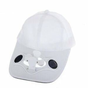 bianco-berretto-Cappello-di-sport-ventilatore-energia-solare-era-per-golf-b-E0A6