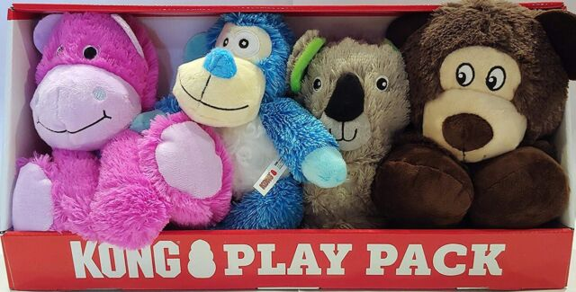 Kong Play Pack Pet Toy Variety 4-pack