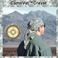 Camovat™ Acu Digital Camo Bandana & Cravat - With 2 Safety Pins