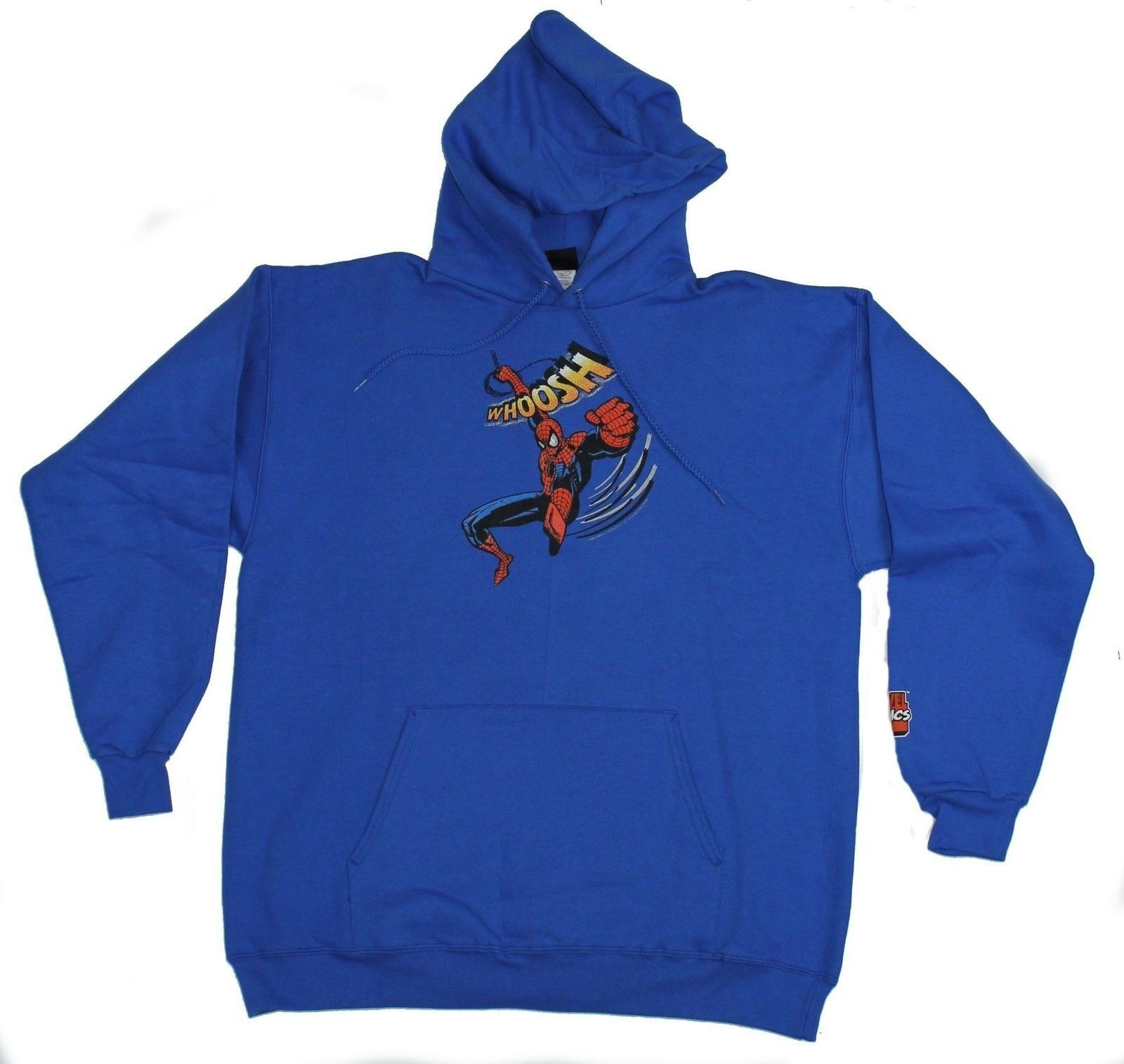 Spider-Man (Marvel Comics) Pullover Hoodie - Whoosh Swinging Punch Image