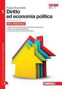 Diritto-ed-economia-politica-1-RONCHETTI-Zanichelli-cod-9788808250766