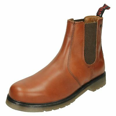 Hx London Hx01c Mens Conker Pull On Ankle Boots r25b Ausgezeichnet Im Kisseneffekt