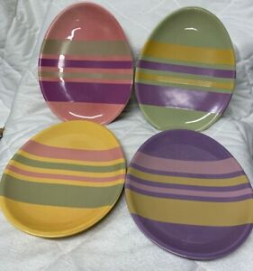 Set Of 4 Easter Egg Shaped Salad Plates By Department 56