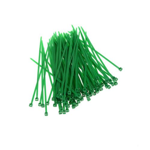 100x 3x100mm Nylon Kunststoff Bunte Kabel Draht Veranstalter Zip Tie Cord ZP