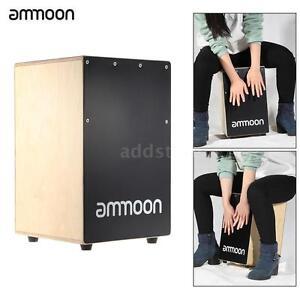 ammoon Birch Wooden Cajon Hand Drum Box Drum Persussion Instrument HOT! W0B7