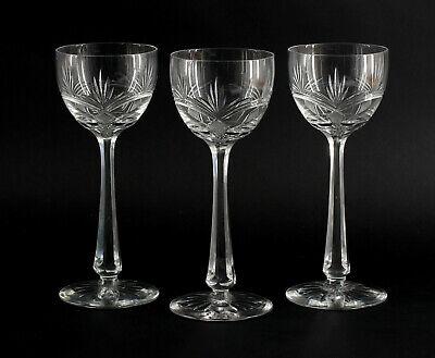 8435037 3 Wein Gläser Jugendstil Regenhütte Wilhelm Steigerwald Um 1900 Jade Weiß