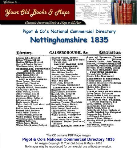 Pigot/'s Directory of Nottinghamshire 1835 CDROM