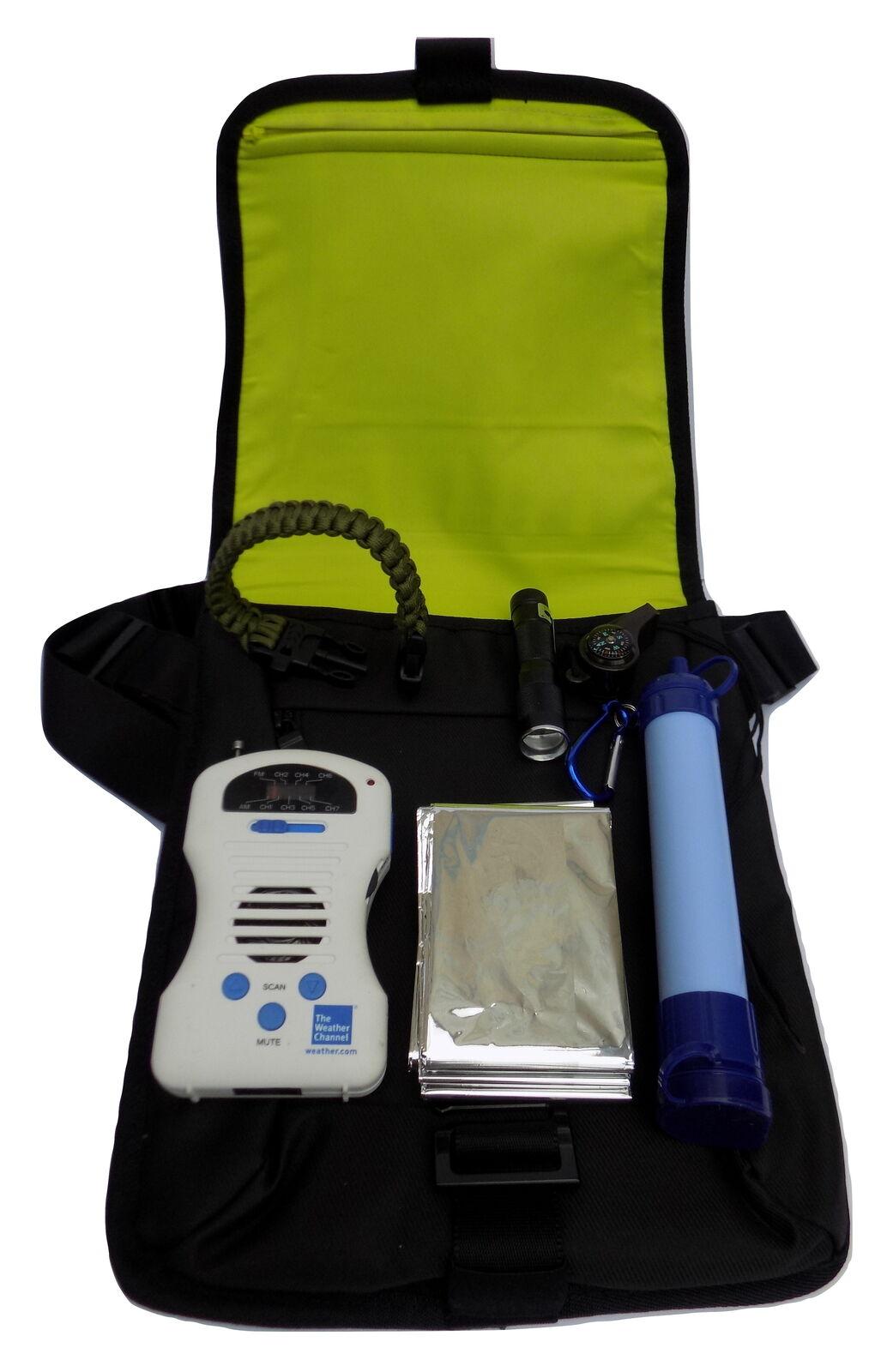 Juego de (7) 72 H Kit De súpervivencia Preparación para Emergencias con (1) Bolso de mano