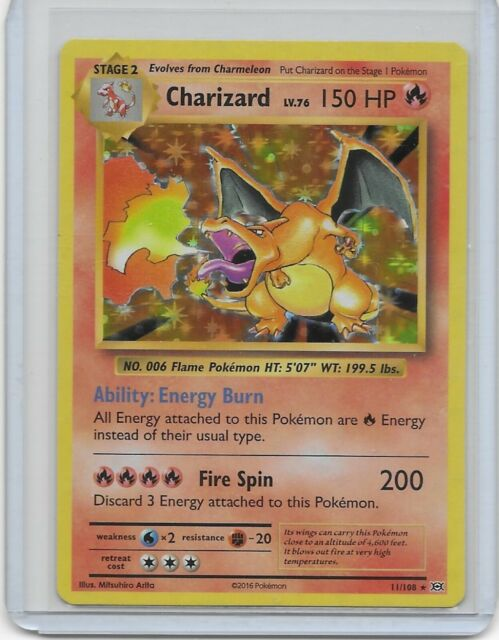 Pokemon XY Evolutions Charizard Holo Holographic Rare 11/108 Pack Fresh M/NM