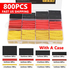 800x Heat Shrink Tubing Insulation Shrinkable Tube 21 Wire Cable Wrap Sleeve Us