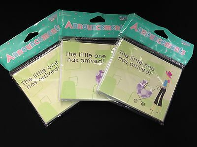 24 Birth Announcements The Little One Has Arrived 3 Packages 2 Dozen Boy Or Girl