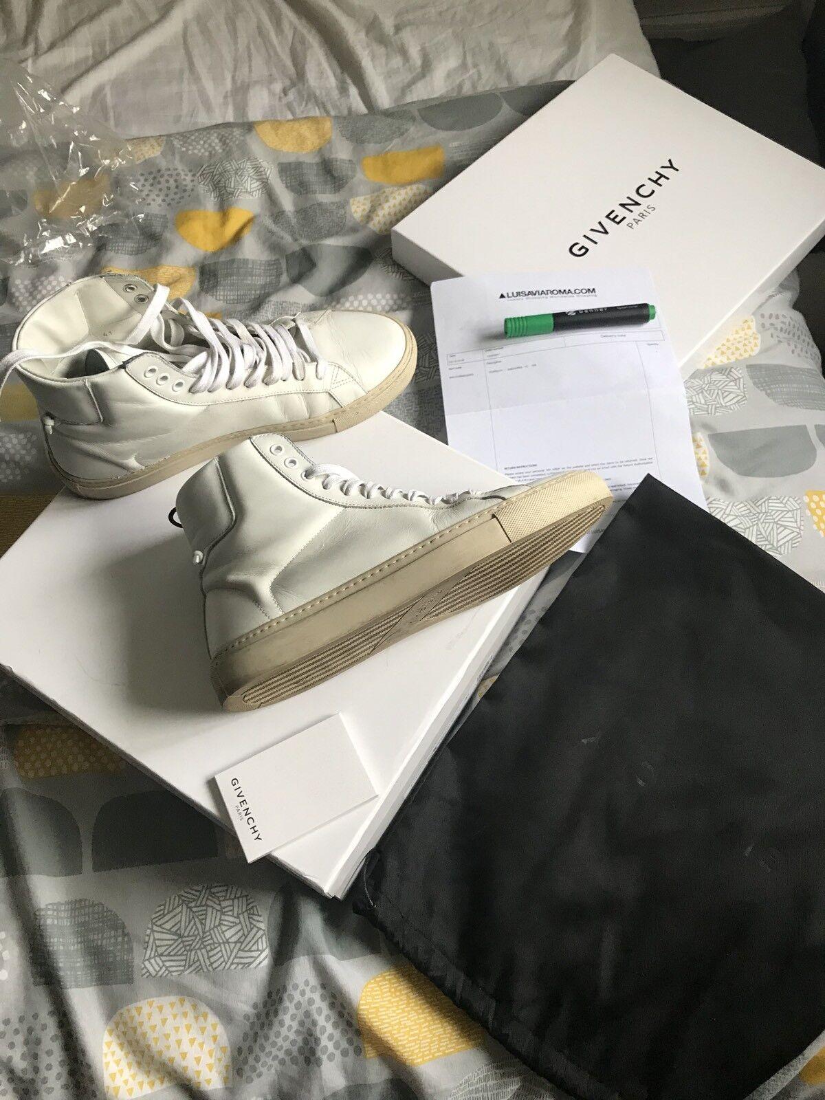 Givenchy Hombres Zapatillas Zapatos de alta Tops 100% auténticos Ultra Raro