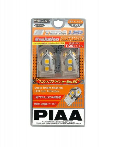PIAA LED Bulb Turn Signal 230lm Ultra TERA Evolution T20 Orange 12V6W H-541 New