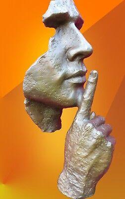 CONTEMPORARY ART BRONZE STATUE ABSTRACT HOT CAST MASK SCULPTURE MODERN ARTS