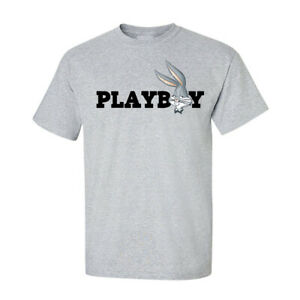 Playboy-Bugs-Bunny-Looney-Tees-Graphic-Funny-Generic-Novelty-Unisex-T-Shirt