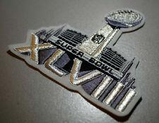 NFL SUPER BOWL XLVIII SUPERBOWL SB 48 JERSEY SILVER METALLIC INSIGNIA w/STADIUM