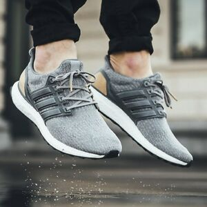 Details about Adidas Ultra Boost 3.0 UK 9 LTD Luxury Pack Grey Leather BB1092 Suede ultraboost