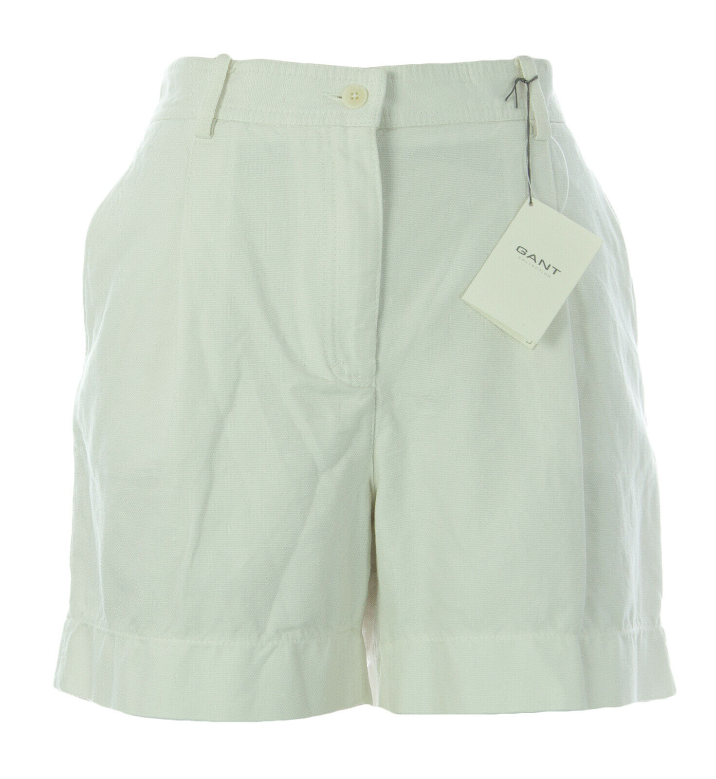 GANT Women's Eggshell Cotton Canvas Shorts 420224  NEW