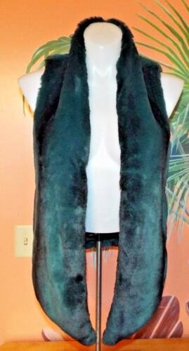 For Størrelse Open Vest Fur Sort Deep Teal Small Collections Faux EUC Tart gnfzw0OqT