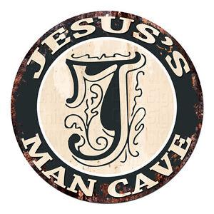 CPMC-0129-JESUS-039-S-MAN-CAVE-Rustic-Chic-Tin-Sign-Man-Cave-Decor-Gift-Ideas