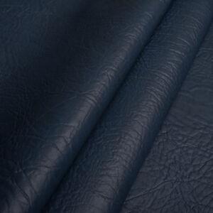 Kunstleder-Meterware-1lfm-Polsterstoff-marmoriert-Lederoptik-Elefant-Blau