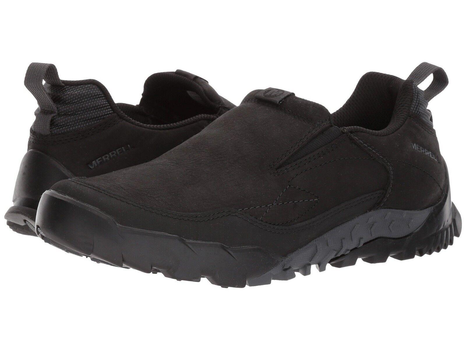 Nuevo Para Hombre Merrell Anexo Trak Moc Toe Mocasín Negro Negro Negro Nubuck Cuero Mocasines ea48b2