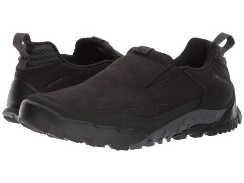 Trak Merrell Annex Nuevo cordones Cuero Nubuck Zapatos Mocasín Mens Moc Negro Toe sin qf5wwtRUx