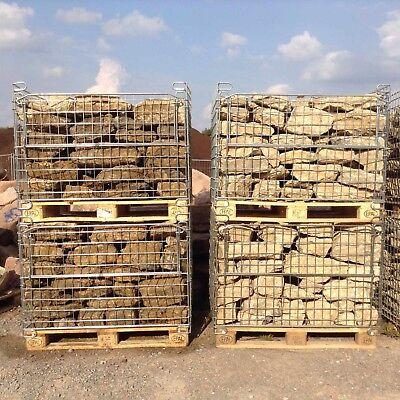 1,35 T Trockenmauersteine € 185,19/t Outdoorküche Mauersteine Muschelkalk Ruine