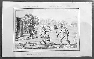 1837 de Rochelle Antique Print United States, Florida Indians Declaration of War