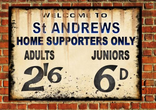 St Andrews Birmingham City Style Metal Sign Football  Vintage Sign Blues Gift