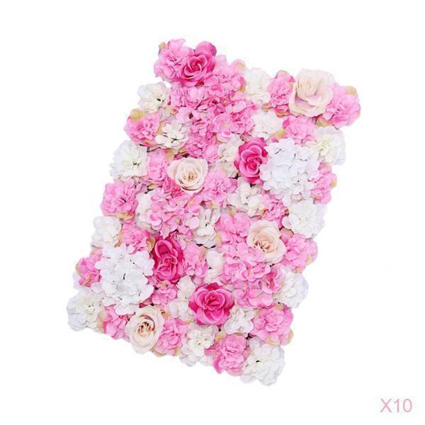 10x Künstliche Blaumenwand Rosanwand, DIY Hochzeit Straße Hintergrund und | Up-to-date Styling  | Sonderpreis  | Hochwertige Produkte