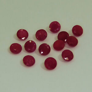Natural-Ruby-Calibrated-3mm-to-8mm-Round-Faceted-Cut-Red-Pink-Loose-Gemstone