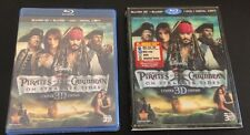 Disney Pirates of the Caribbean STRANGER TIDES 3D Blu-Ray 5-Disc Set +Slip Cover